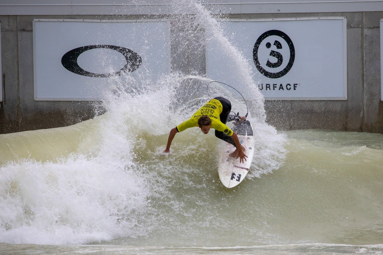 PerfectSwell Wave Pool being used for Ripcurl Grom Search contest
