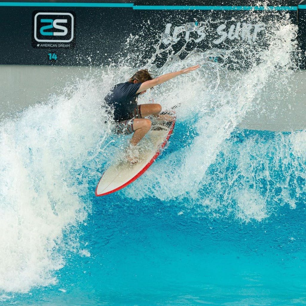 Surfer in Skudin Surf's Wave Pool
